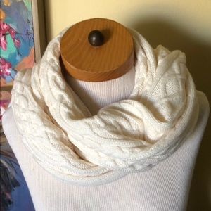 Talbots Cream Colored Knit Scarf